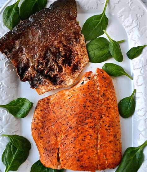 Spicy Skin Salmon 5ptg spicy roasted salmon with crispy skin the genetic chef