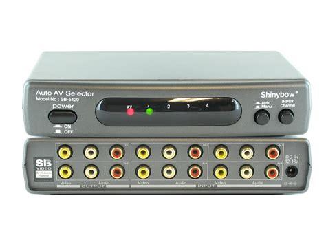 Switch Av 4x2 4 2 composite audio automatic av auto switch switcher splitter sb 5420