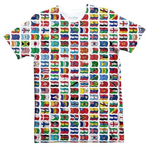 flags of the world t shirt world flags t shirt shelfies