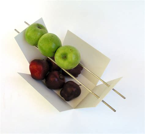 modern fruit bowl modern fruit bowl green apples red apples welded steel