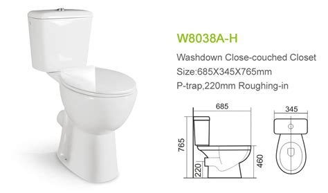 Water Closet Height by P Trap Floor Mounted Washdown Water Closet Buy Washdown