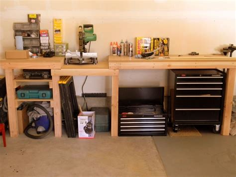 garage work table garage workbench plans yard workshed and garage