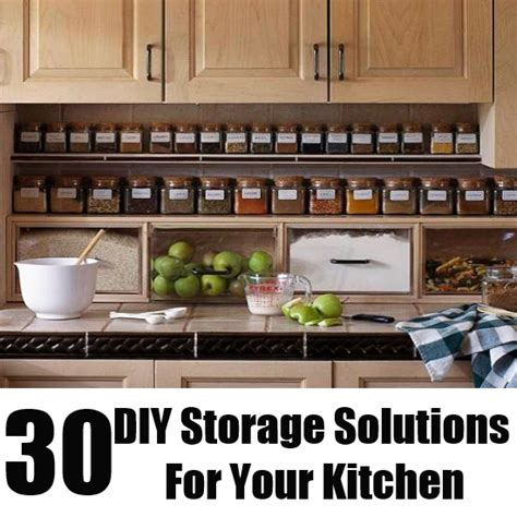 Ideas For Kitchen Storage In Small Kitchen | 30 diy storage solutions for your kitchen diy home life