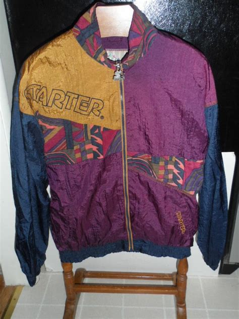 vintage 90s mens starter rugged terrain wind breaker jacket