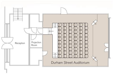 floor plan of auditorium durham street auditorium