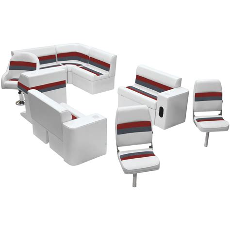 wise deluxe pontoon furniture wise deluxe pontoon complete fishing boat seating group