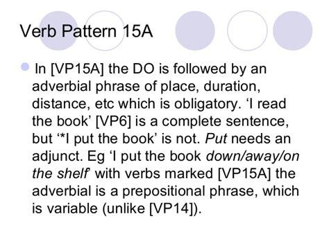 verb pattern request verb patterns