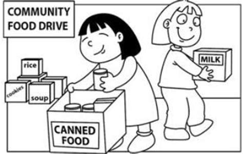 Coloring Pages Food Drive | can food drive coloring page coloring pages