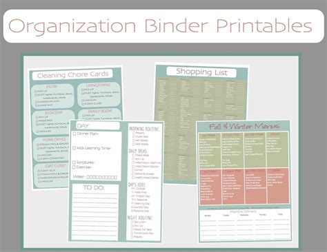free printable home organizer notebook just sweet and simple free printable household