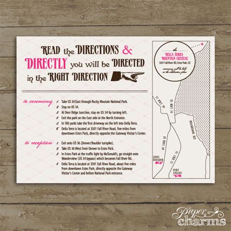 free printable driving directions for invitations wedding card design classic elegant layout best