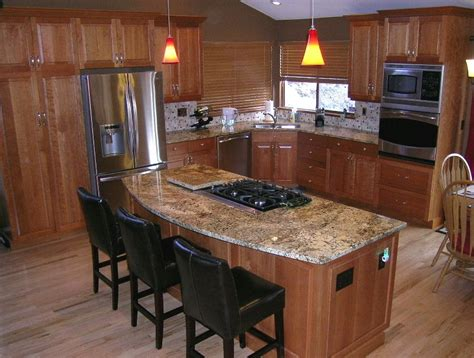 kitchen island countertop overhang kitchen design ideas