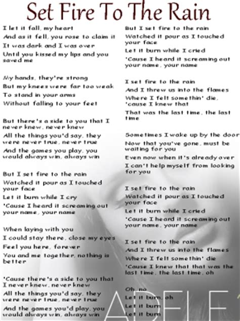 download mp3 free adele set fire to the rain adele set fire to the rain lyrics sheet free printable