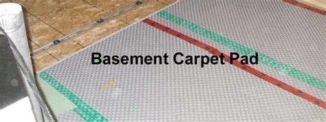choose the right basement carpet pad the flooring