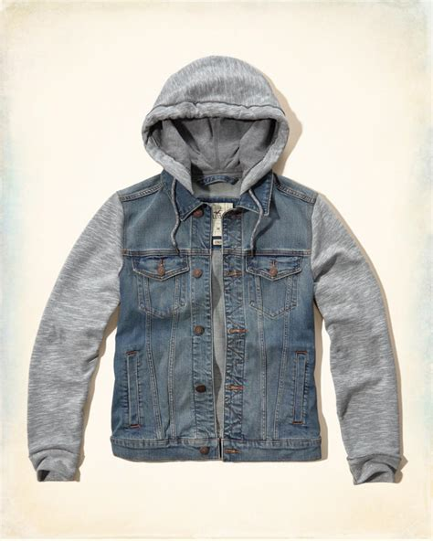 Jaket Hoodie 01 Jaket Social Media guys hooded denim jacket guys clearance hollisterco