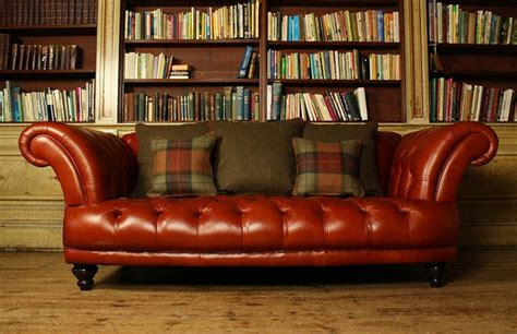 Brown Vintage Leather Sofa by Edmund Vintage Brown Leather Sofa Chesterfield Company