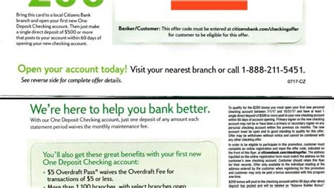 Citizens Bank Letter Of Credit Citizens Bank 200 Checking Bonus Targeted Moving Packs Ct De Ma Mi Nh Nj Ny Oh Pa
