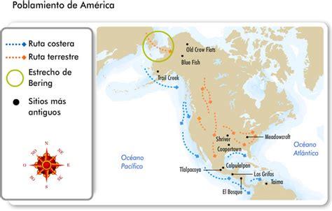 mapa del estrecho de bering poblamiento de am 233 rica portal acad 233 mico del cch