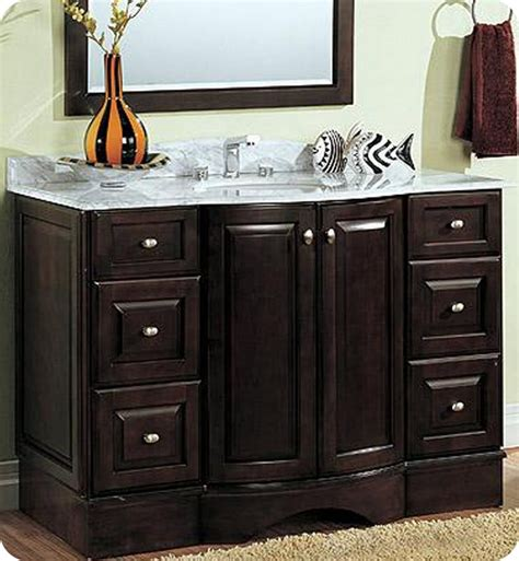 curved bathroom vanity cabinet fairmont designs town country 48 quot transitional curved