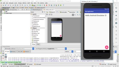 android studio emulator do not show the designed layout android er create avd using new android emulator in