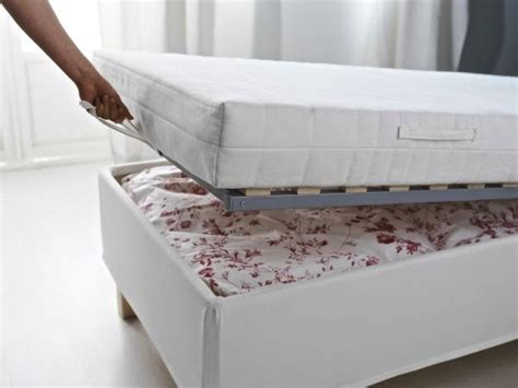 Ikea Mattress Base With Storage Sleep And Stow Bed Frames With Built In Storage Remodelista