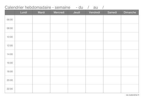 Format Excel Jour De La Semaine | faire un planning hebdomadaire ou mensuel gratuit
