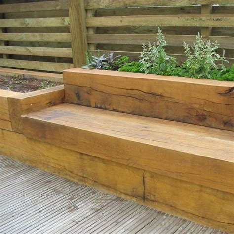 railway sleeper garden bench 23 best images about timber seating areas on pinterest