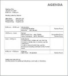 Template Of An Agenda by Basic Agenda Template Printable Templates