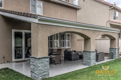 Patio Warehouse Inc Custom Designed Built This Outdoor Stucco Patio Cover Designs