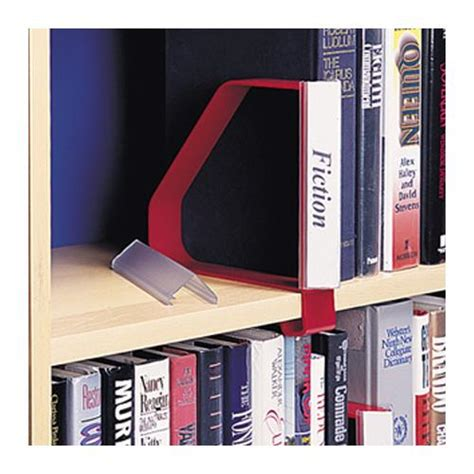 Library Shelf Label Holders by Gressco Angled Label Holder For Clip On Bookend