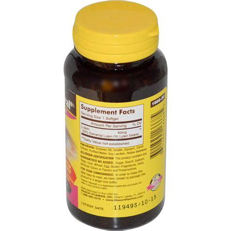 Vitamin Lutena vitamins lutein 40 mg 30 softgels iherb