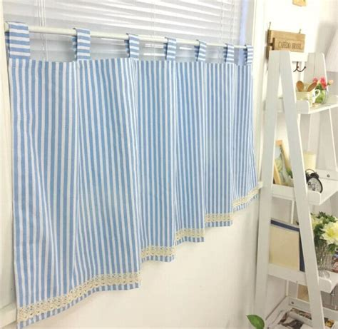 blue and white curtains for sale aliexpress com buy 100 cotton blue and white stripe