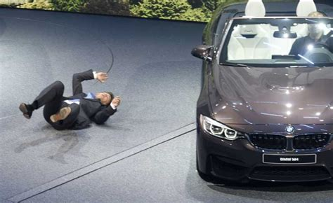 bmw ceo faint another camera angle of ceo of bmw harald krueger fainting