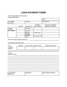loan repayment form template loan payment form sle free