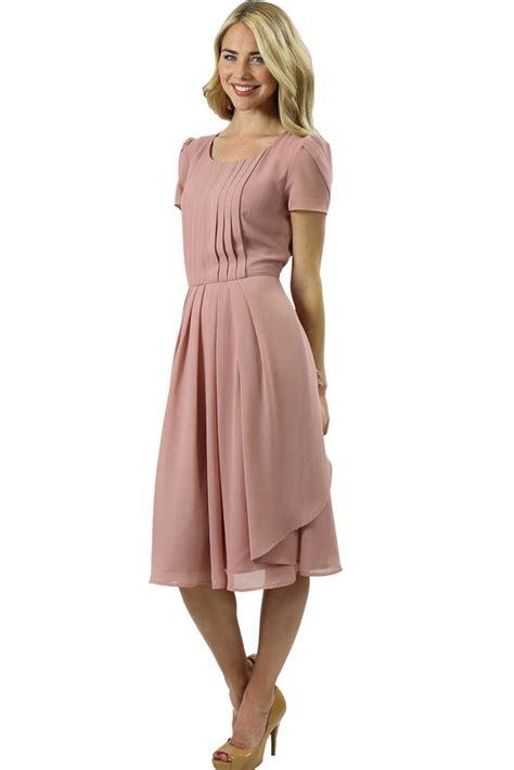 modest dresses cassidy dress in cameo pink