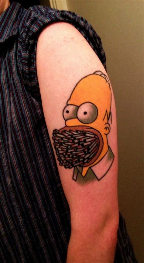 cartoon tattoo artists perth 22 best images about homer simpson tattoo on pinterest