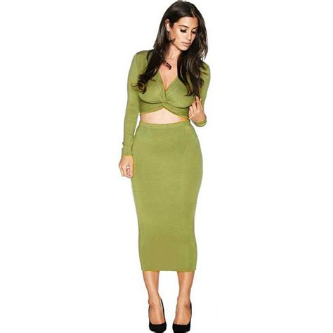 womens clothing set fashion 2 skirt sets sleeve autumn casual crop top and skirt jpg