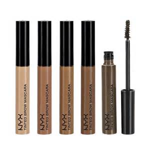 nyx color mascara nyx cosmetics tinted brow mascara eyebrow color definition