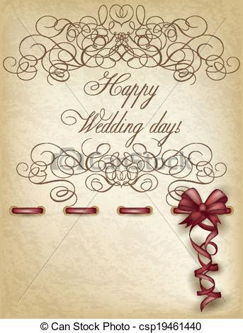 Wedding Day Clip Free by Happy Wedding Day Paper Vector Illustration Eps