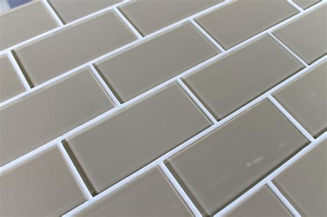 beach brown 3 quot x 6 quot glass subway tile traditional tile