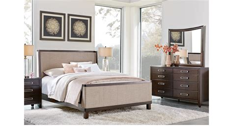 java bedroom set bellissimo java dark brown 7 pc king upholstered bedroom