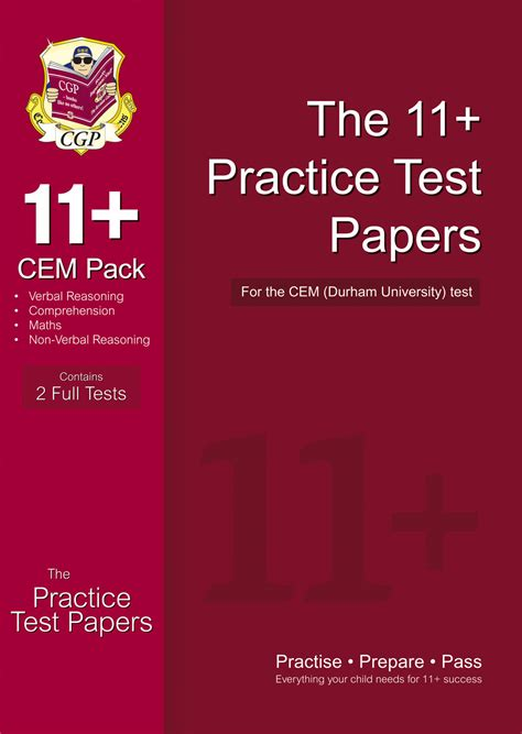 www test it cgp 11 practice test papers for the cem test pack 1