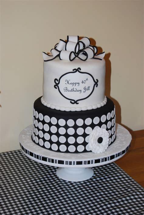 black and white birthday cake black and white 40th birthday cake cakecentral