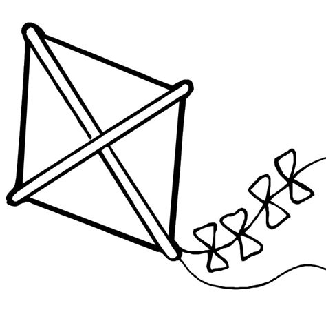 kite coloring pages preschool kite preschool craft clipart best