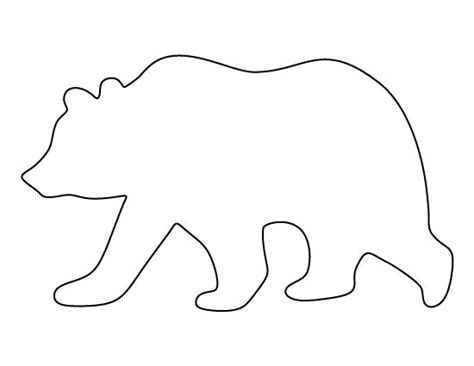 Grizzly Bear Pattern Use The Printable Pattern For Crafts Creating Stencils Scrapbooking And Moose Cut Out Template
