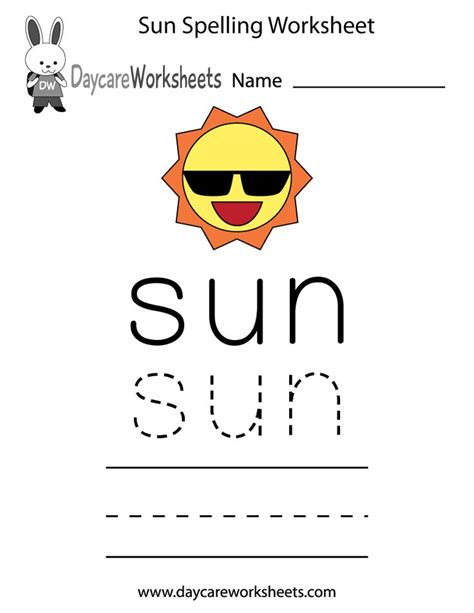 learn and practice how to spell the word sun using this