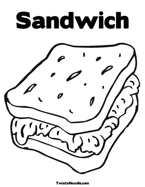 chicken sandwich coloring page sandwich coloring sheets coloring pages