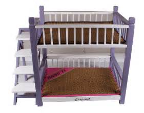 Bunk Bed For Dogs Wooden Pet Cat Deck Bunk Bed Hut Cage Kennel Doghouse With Stairs New Ebay