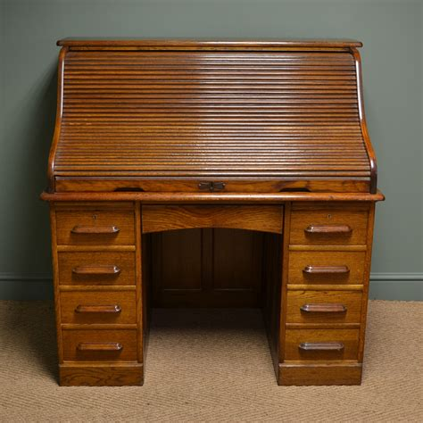 roll top desk large edwardian oak antique roll top desk antiques