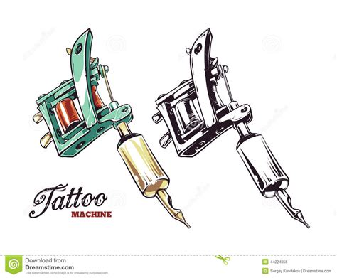 tattoo machine designs plans machine vector stock vector illustration of retro
