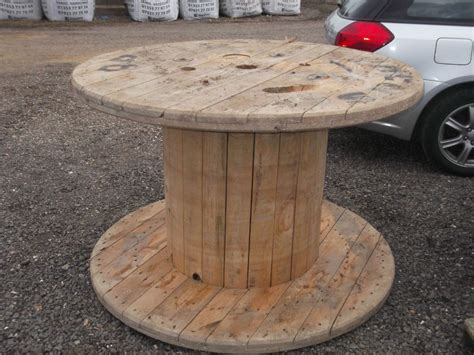 large wooden table large strong wooden cable reels garden tables shop
